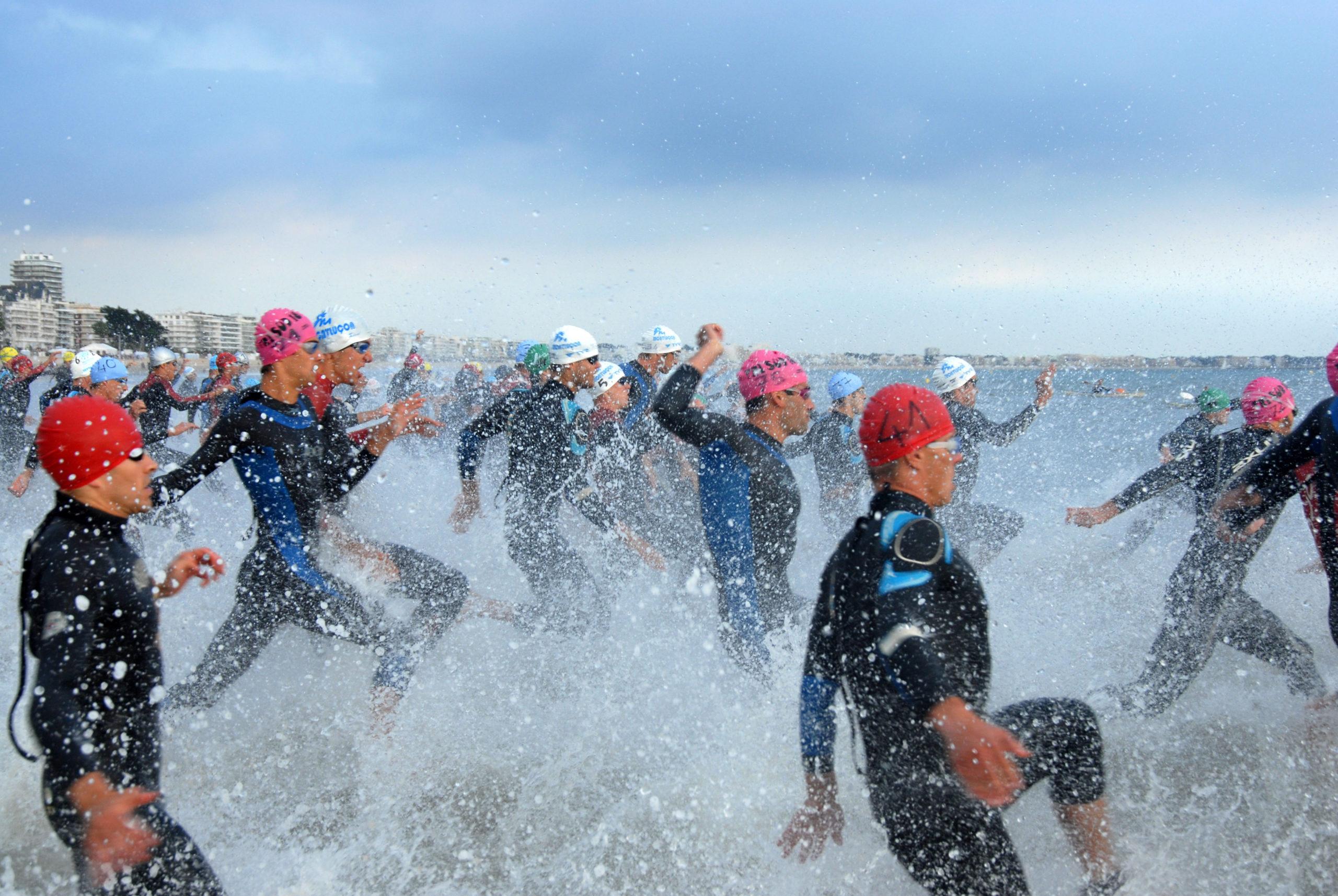 Triathlon Swimming Mass Start
